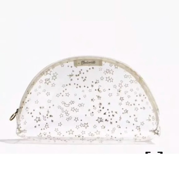 eccce952b07 MADEWELL clear make up pouch gold stars and moons